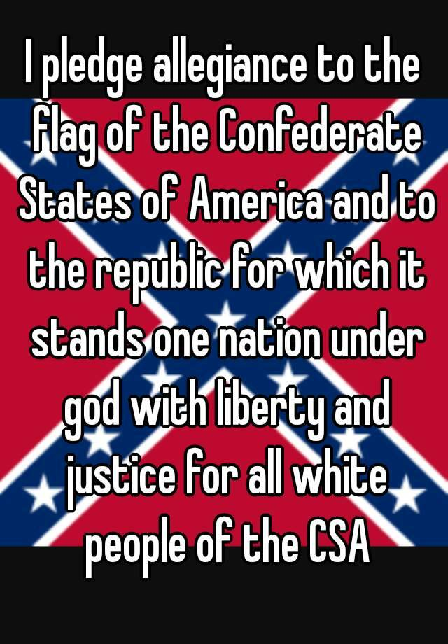 the state of texas pledged allegiance to the confederacy
