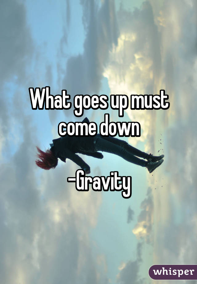 what goes up must come down What goes up, must come down posted tue, 06/26/2018 - 20:37 the summer is a celebratory time when people gather for graduations, the fourth of july, weddings, and to enjoy time at the beach.