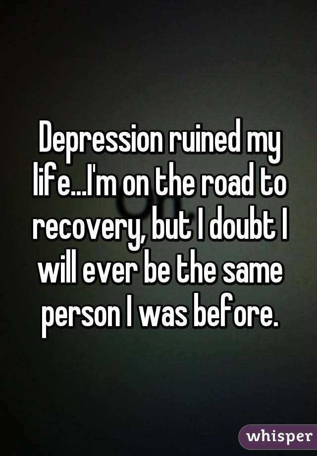 depression the road to recovery June 25, 2017: michelle jackson, was our special guest tonight michelle has extensive experience dealing with depression and came on the show to share he.