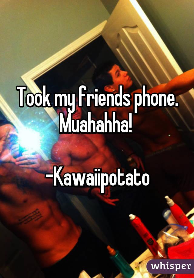 Took my friends phone. Muahahha!   -Kawaiipotato