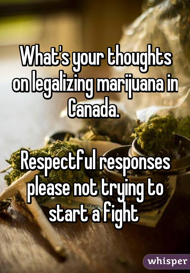 Legalize Marijuana: Why? Why not? What are your thoughts on this?