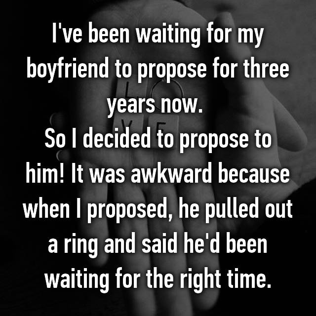 When To Stop Waiting For Him To Propose