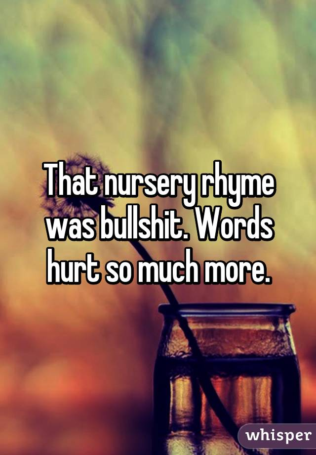 Silence Hurts More Than Words Words Hurt so Much More