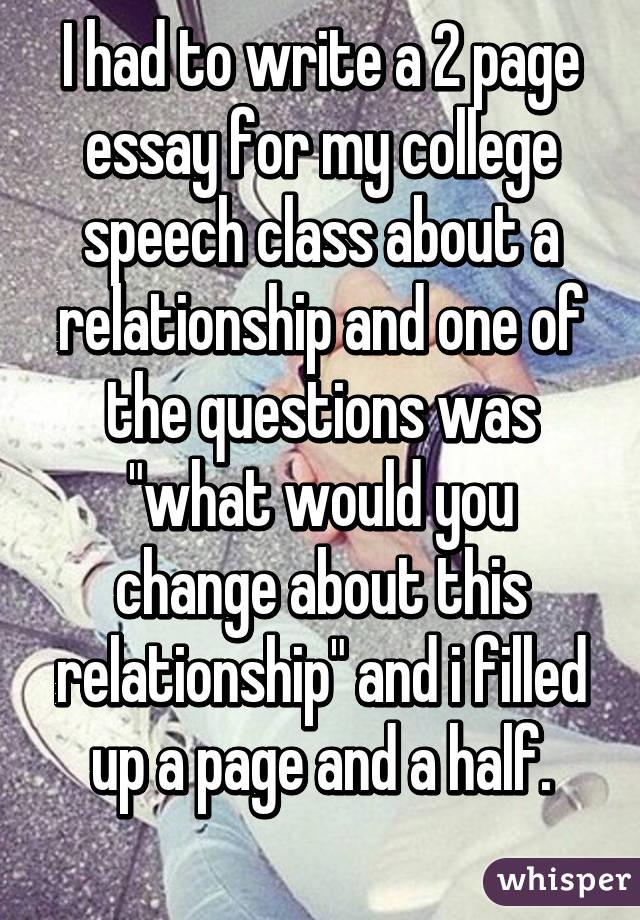 Question about speech class?