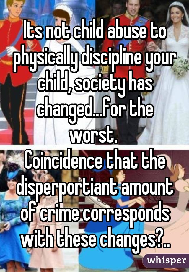 Is child abuse a form of discipline?