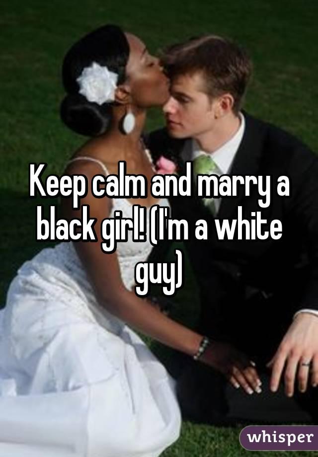 White girl dating a black guy whisper