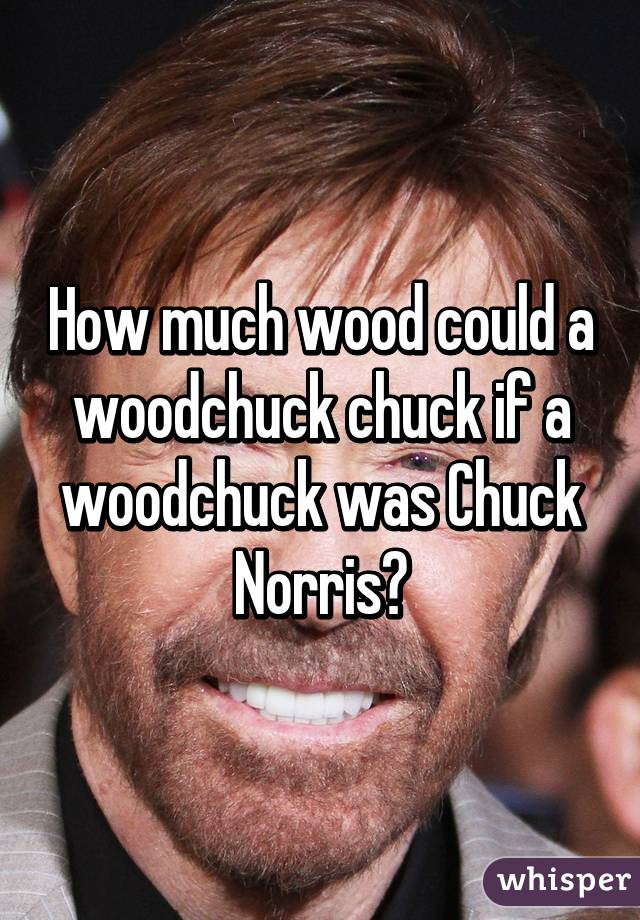 How much wood could a woodchuck chuck if a woodchuck was ...