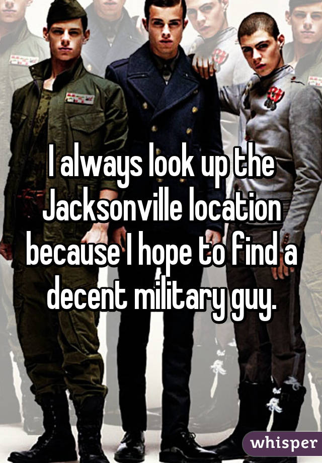 Decent Looking Guys Find a Decent Military Guy