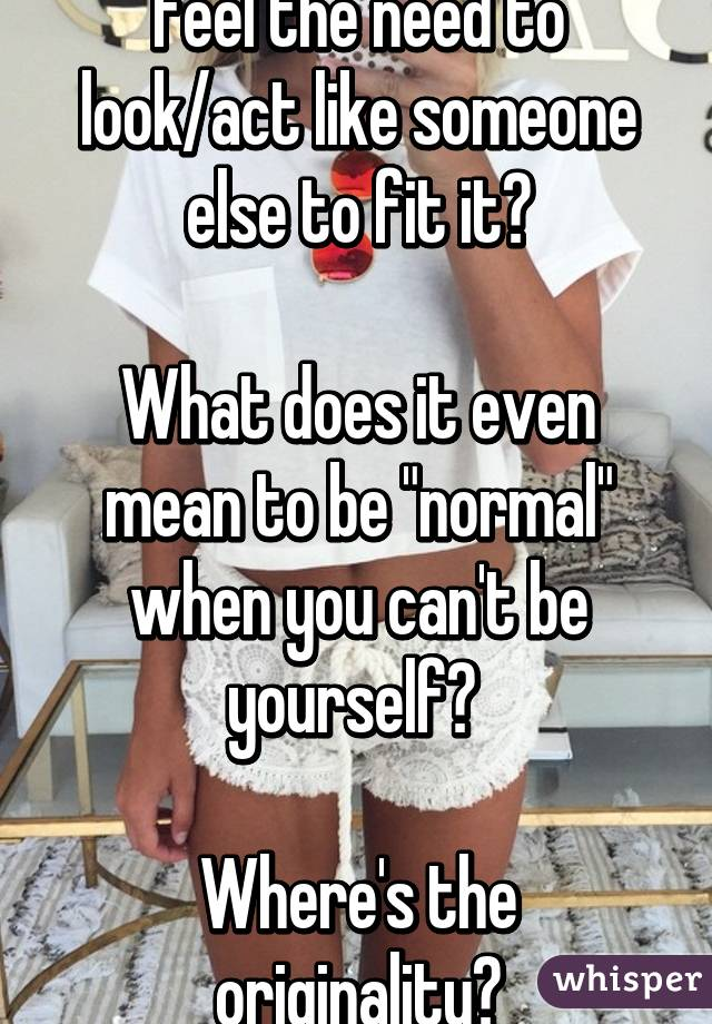 What does it mean to be normal?