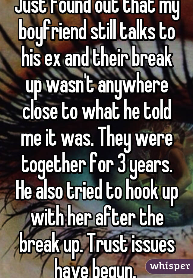 And breast first hook up after break up