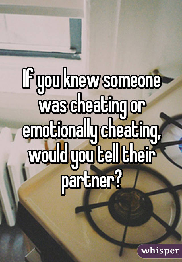 Would it be cheating if...?