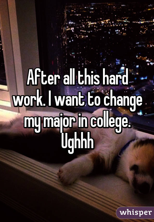 I want to change my major; should I?