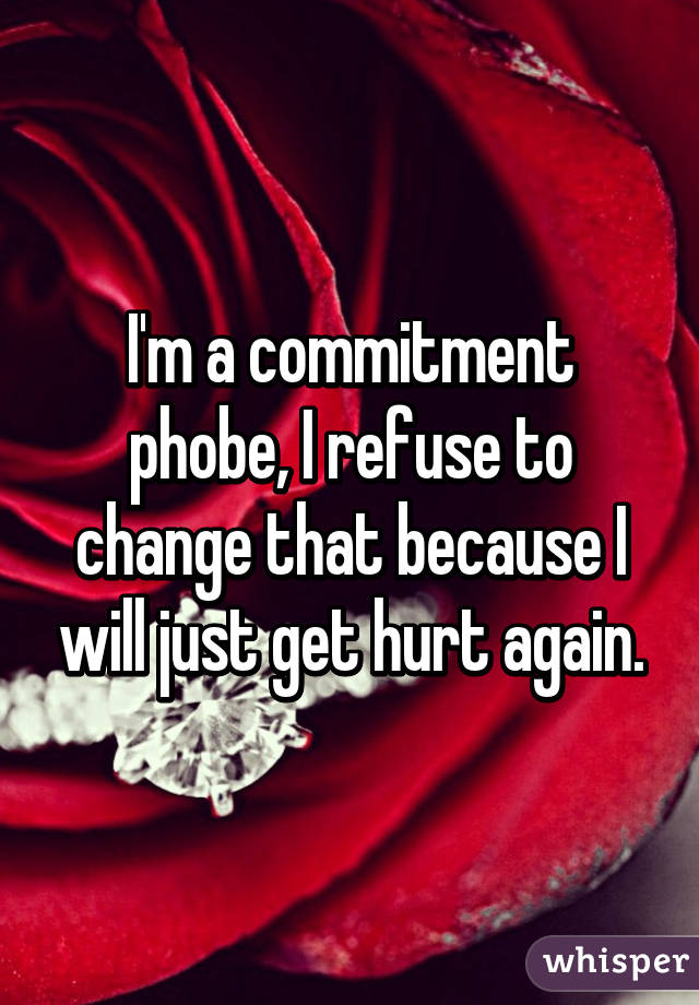 Commitment phobic meaning
