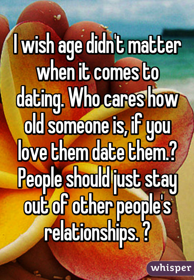 When It Comes To Dating, Do Age Differences Matter? 2