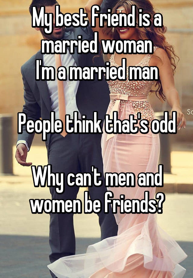Married man single female friend