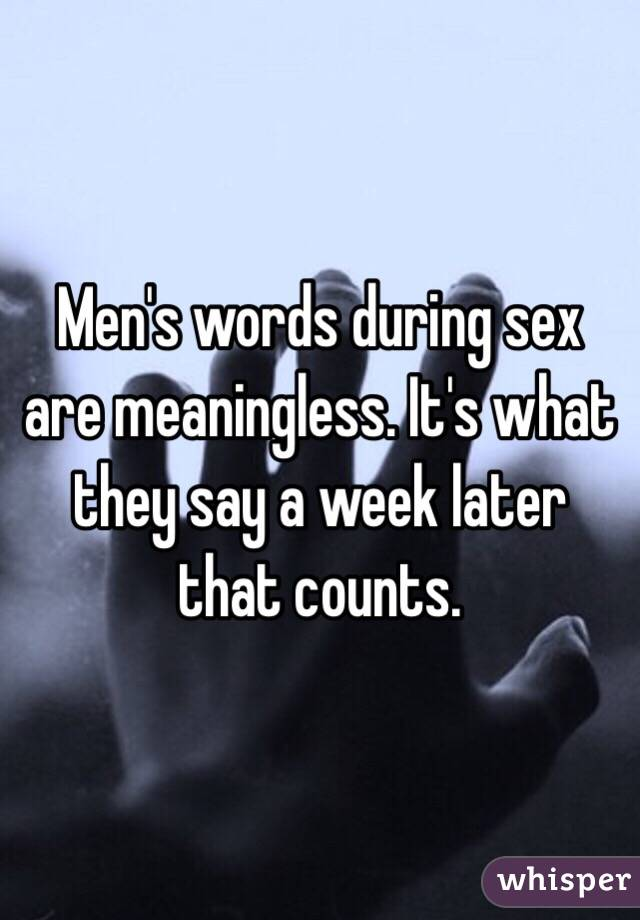 Words During Sex
