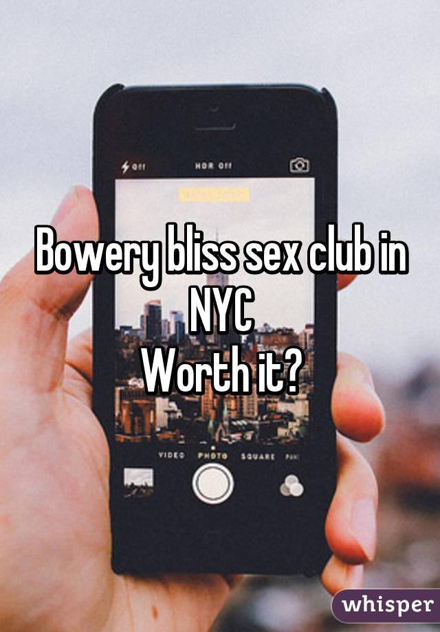 bowery bliss club