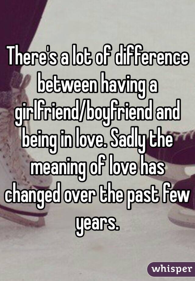 from Dillon difference between dating and being boyfriend girlfriend