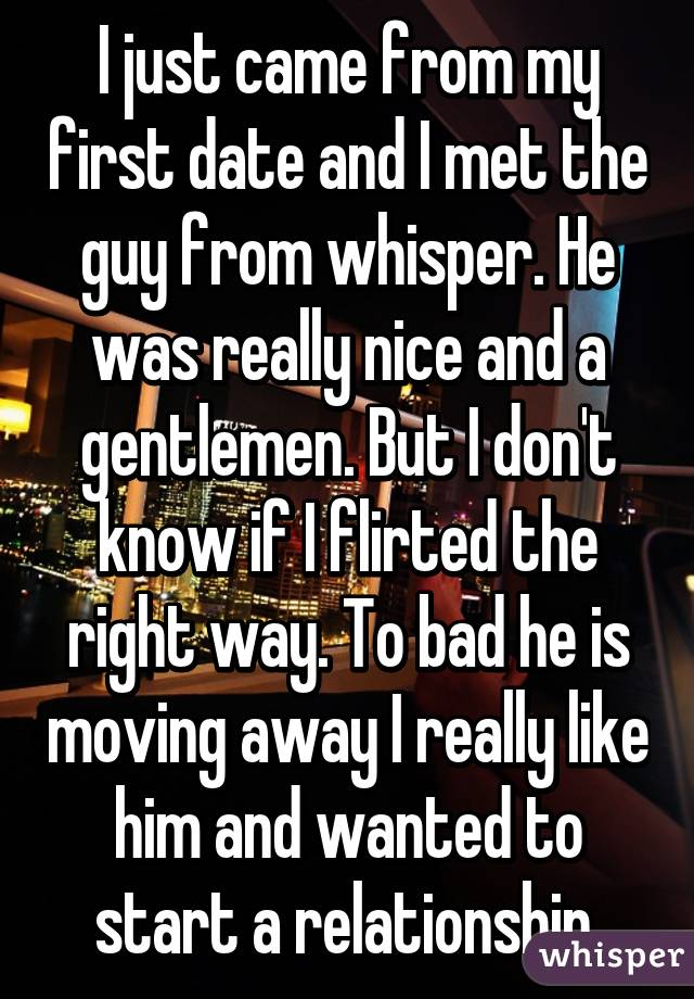 Dating guy moving away