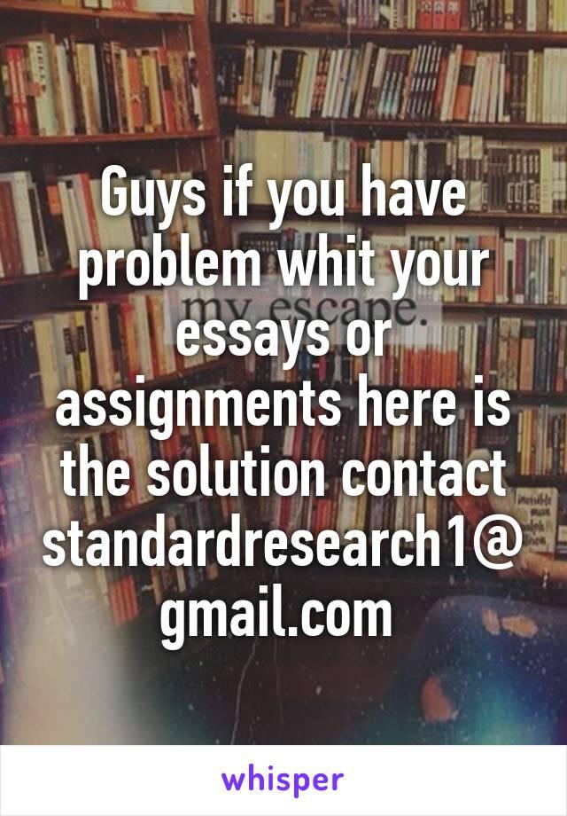 Essay problem here.....?