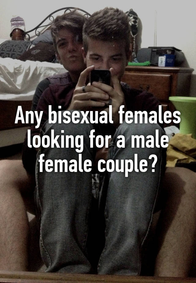 Bisexual couple female looking