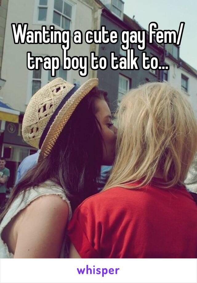 Trap boy gay
