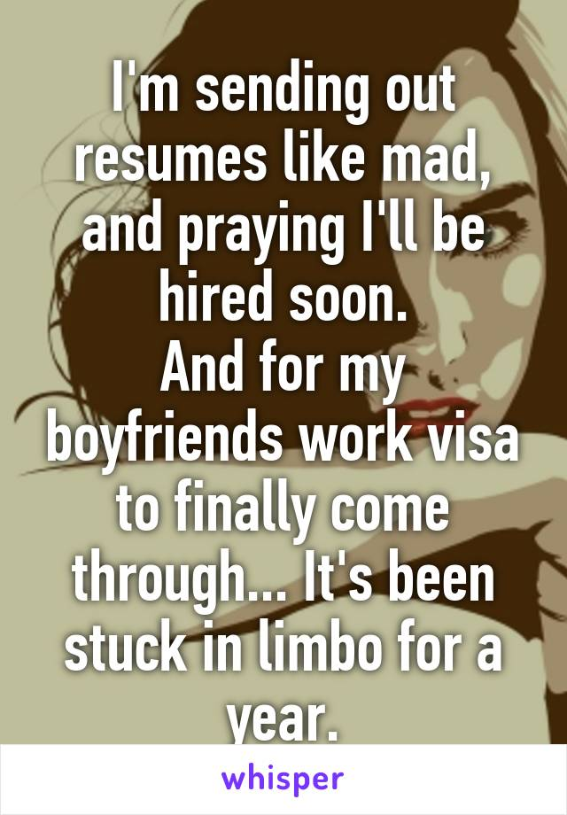 sending out resumes