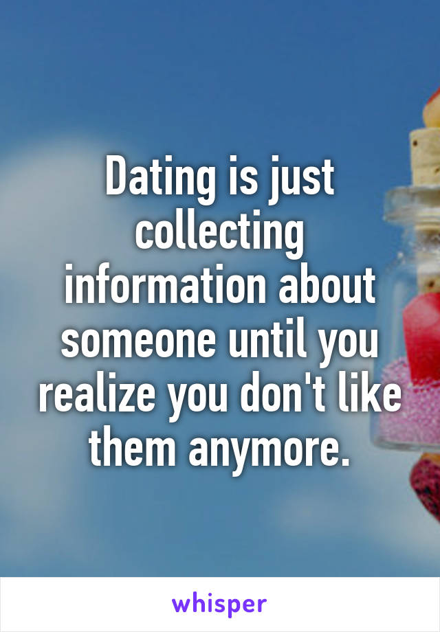 Information Dating