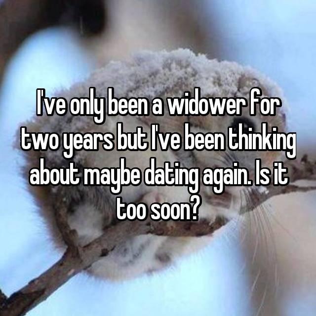 widower dating too soon