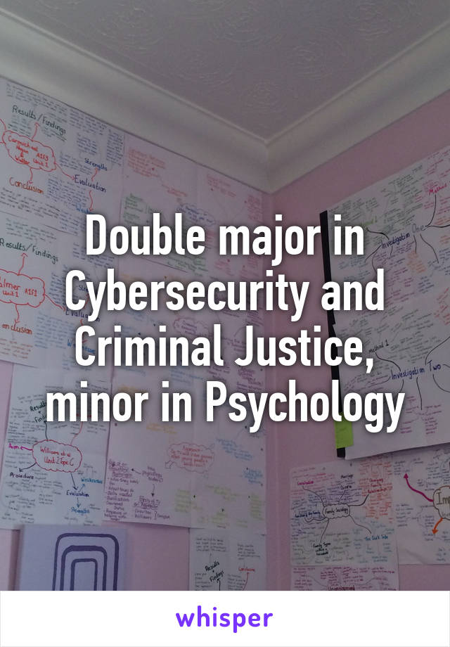 Double Major In Cybersecurity And Criminal Justice Minor Psychology