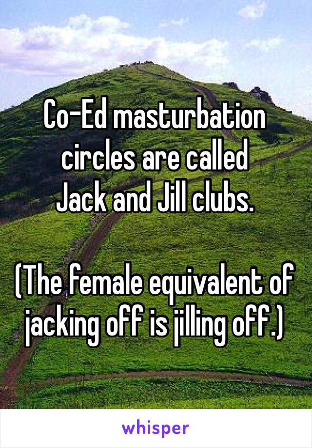 jack and jill masturbation clubs
