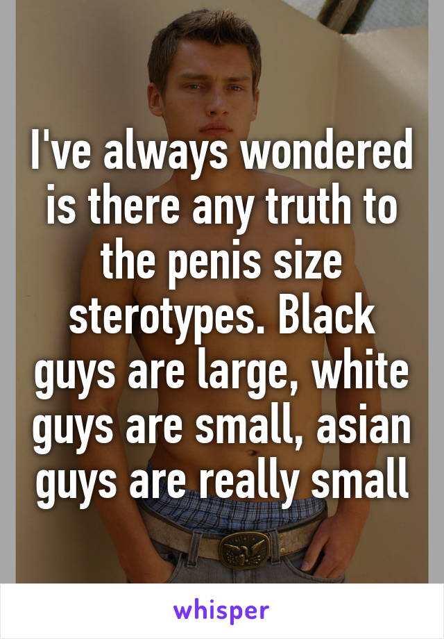 Truth and myths about black penises