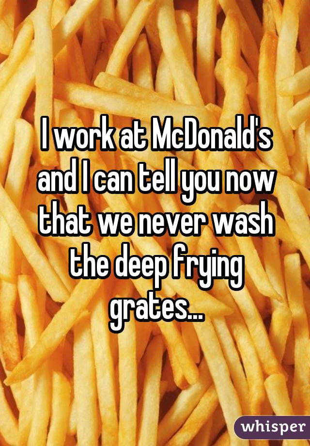 I work at McDonald