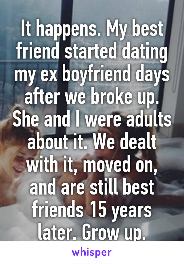my friend is dating my ex boyfriend