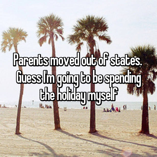 Parents moved out of states.  Guess I'm going to be spending the holiday myself