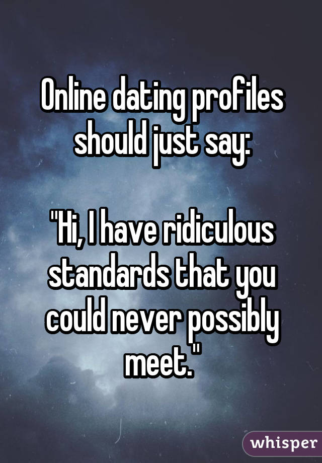 Woes of online dating