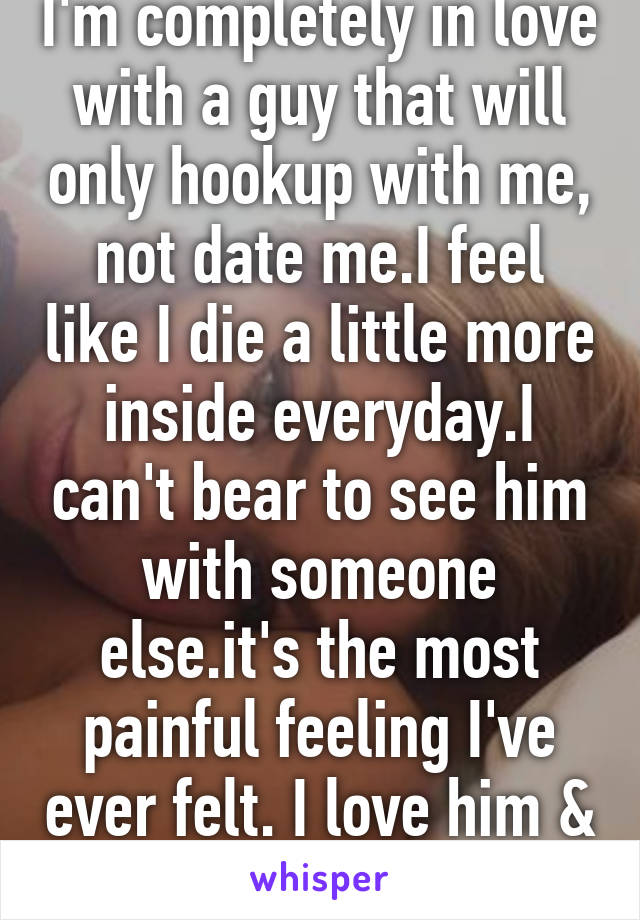 My ex loves me but is hookup someone else