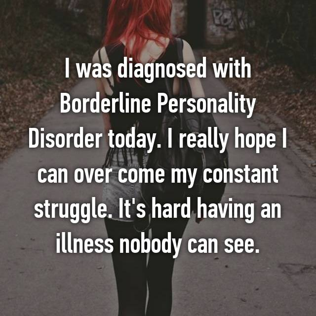 my victory over borderline personality disorder Am i talking about some secret society that quietly rules over us due to the stigma associated with my illness: borderline personality disorder.