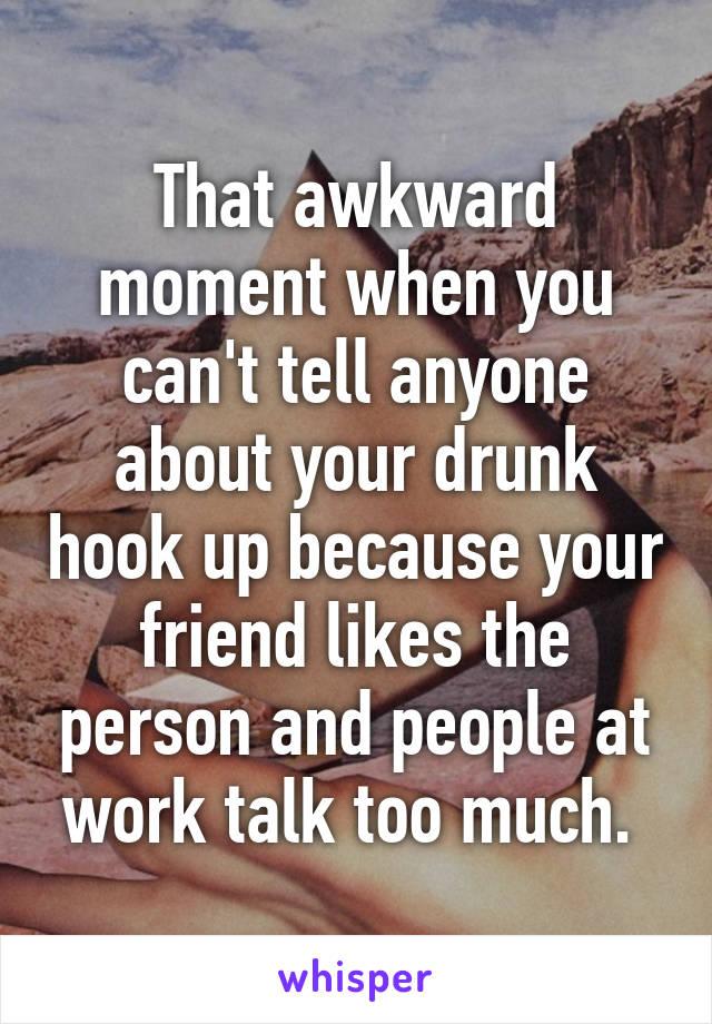 awkward after hook up