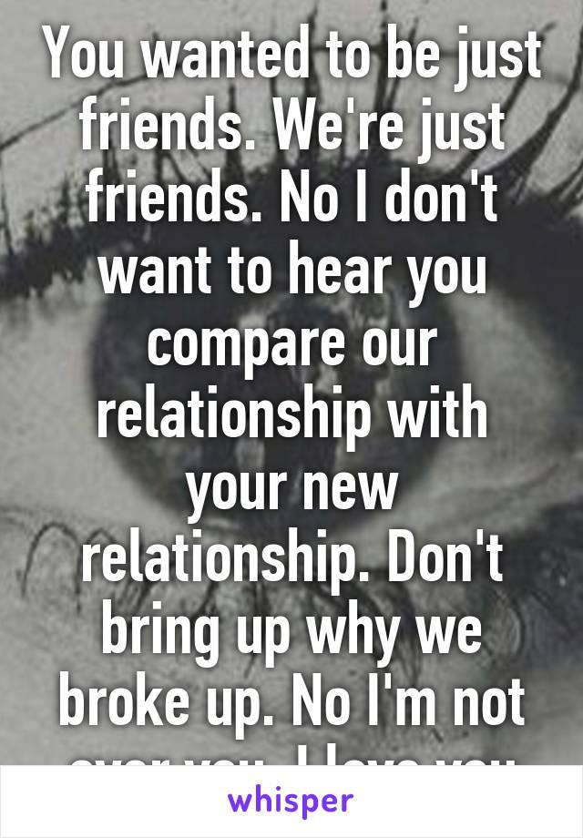 Just friends relationship