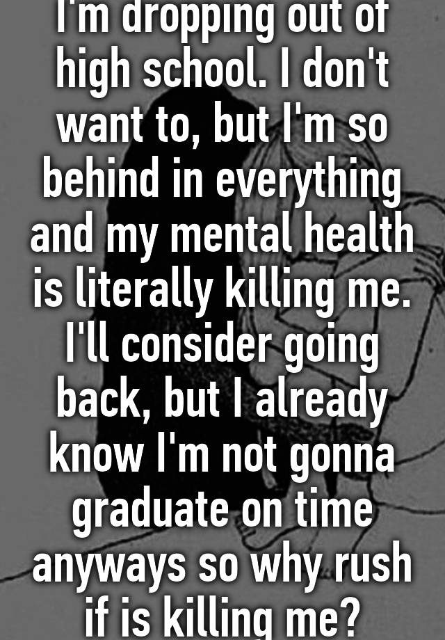I dropped out of high school and I want to go back HELP!?