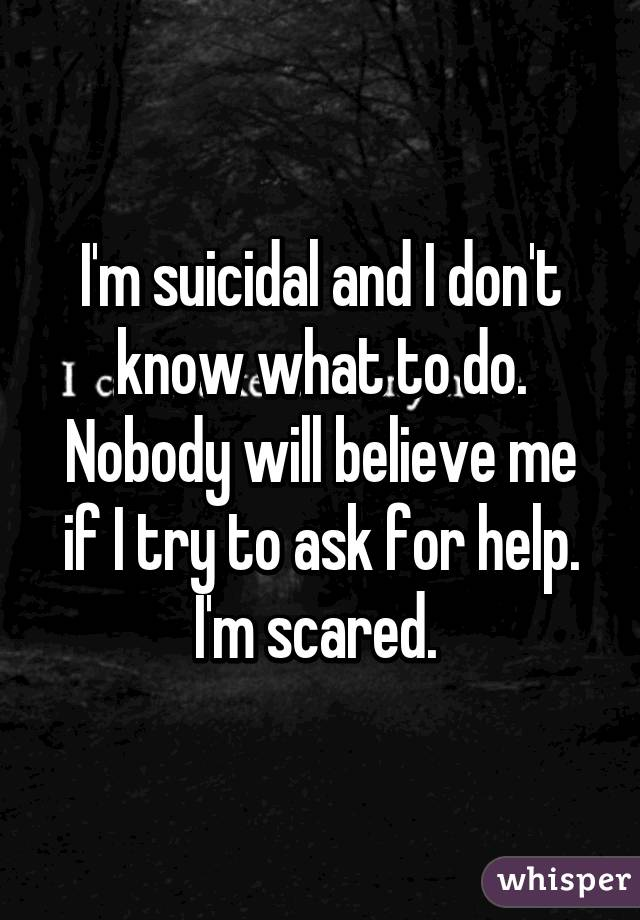 I'm scared to ask for help!?