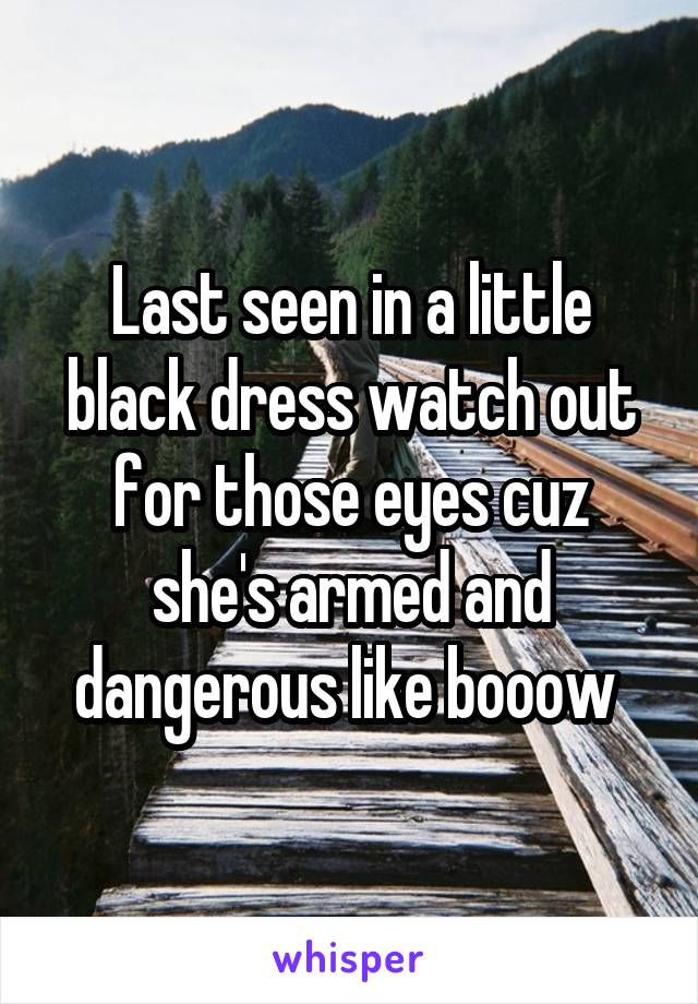 Black dress watch out for those eyes