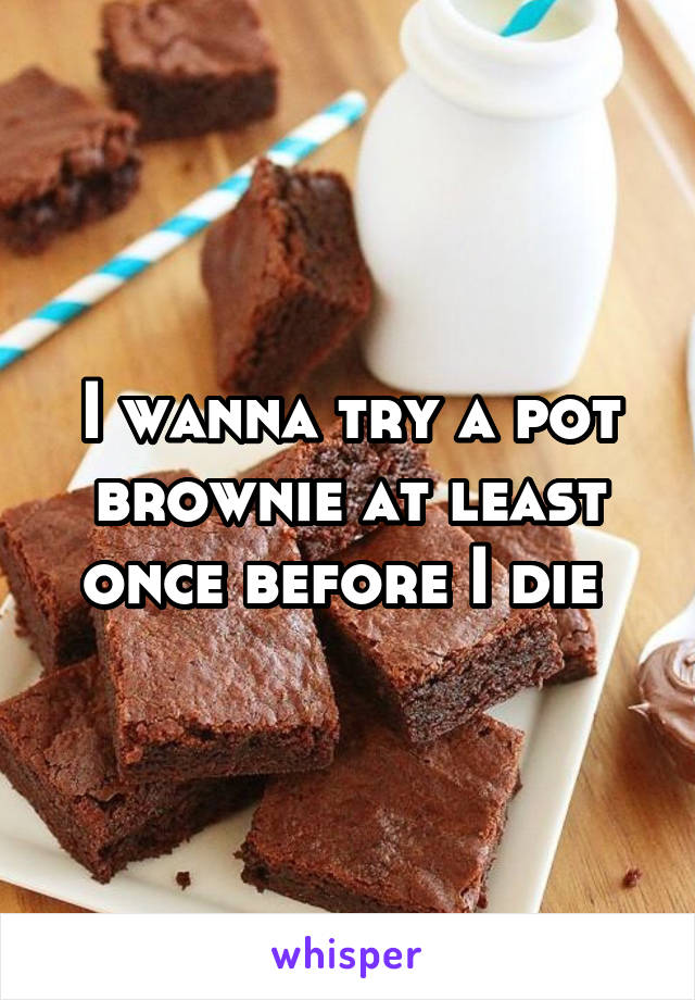 I wanna try a pot brownie at least once before I die