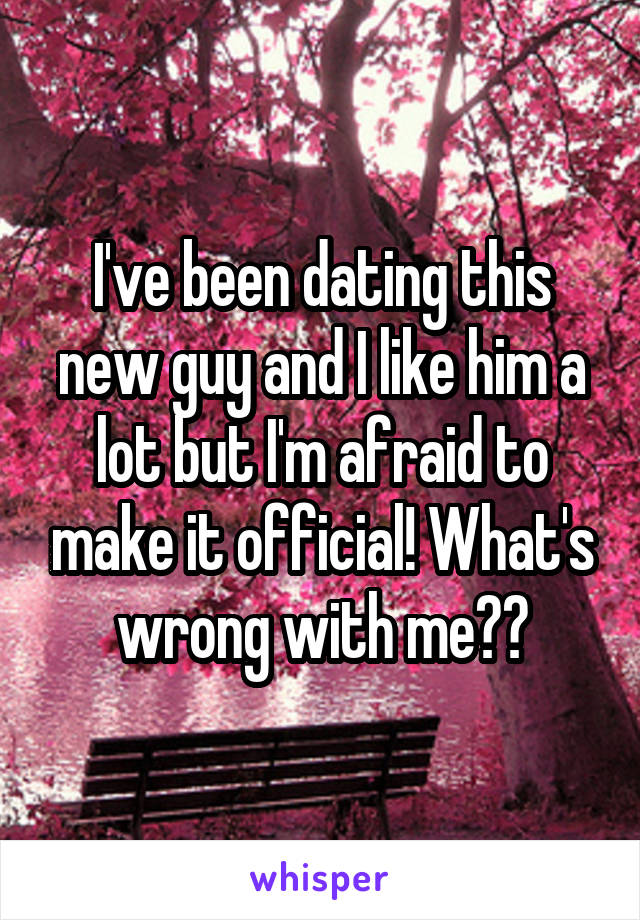I've been dating this new guy and I like him a lot but I'm afraid to make it official! What's wrong with me??