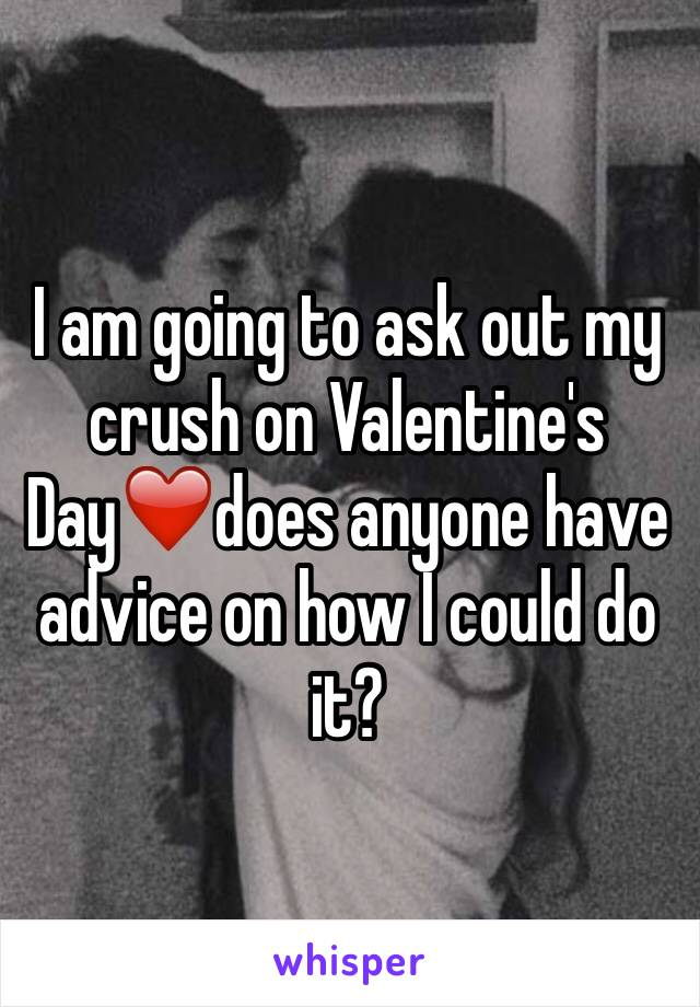 I am going to ask out my crush on Valentine's Day❤️does anyone have advice on how I could do it?