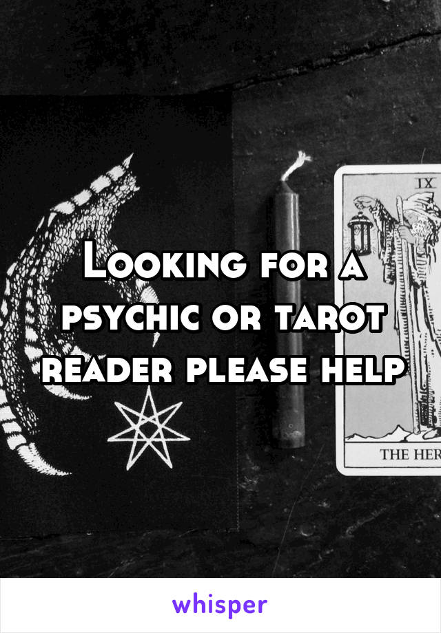 Looking for a psychic or tarot reader please help