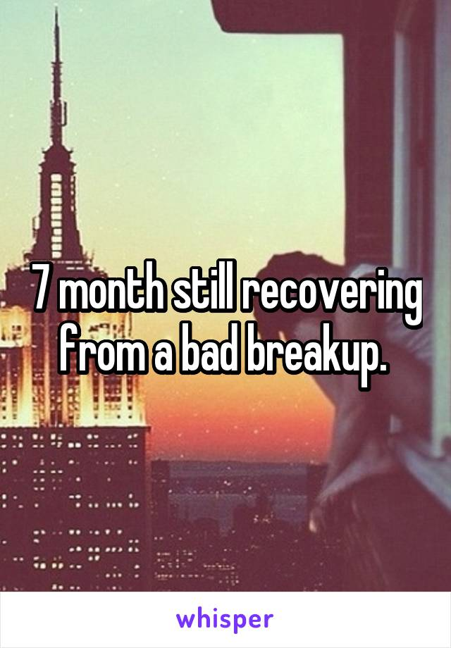 7 month still recovering from a bad breakup.