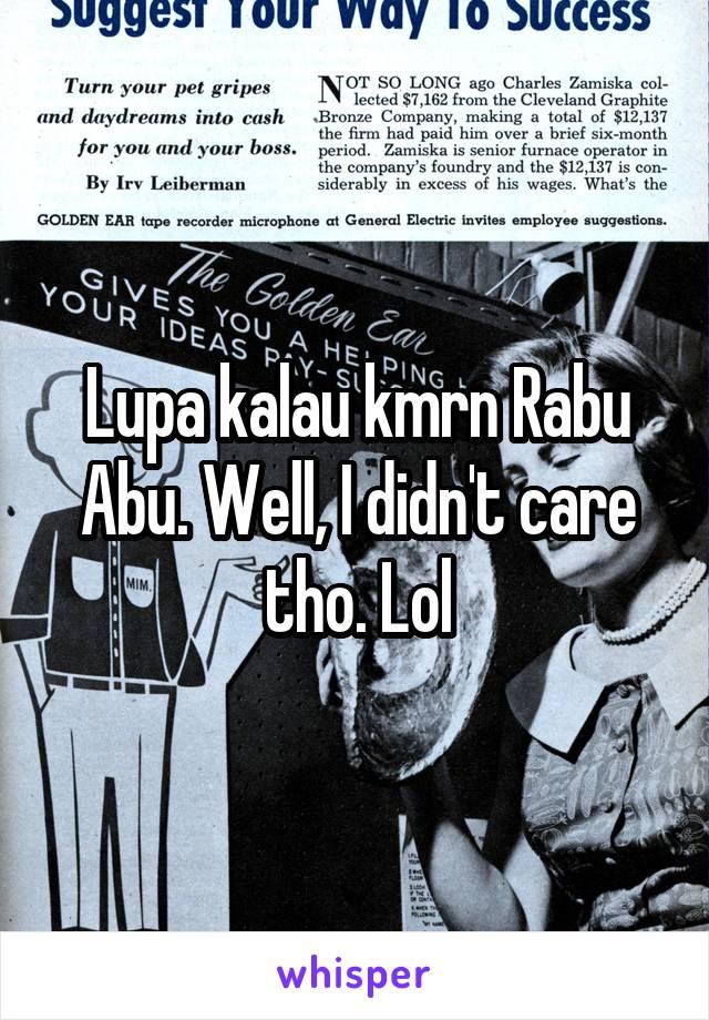 Lupa kalau kmrn Rabu Abu. Well, I didn't care tho. Lol