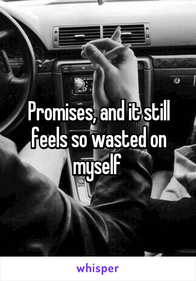 Promises, and it still feels so wasted on myself
